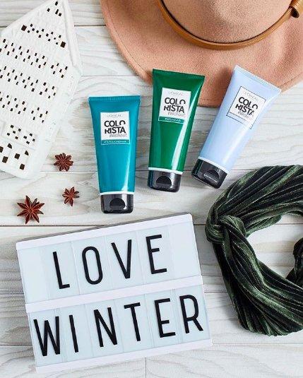 голубой и зеленый бальзамы для окрашивания волос
